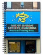 One Of Ten Great Streets In America Spiral Notebook