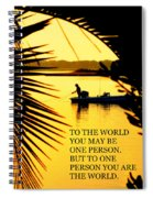 One Person Spiral Notebook