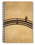 One Pigeon Perched On A Metallic Arch. Spiral Notebook