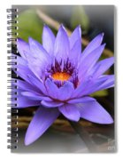 One Purple Water Lily With Vignette Spiral Notebook