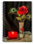One Red Christmas Rose Spiral Notebook