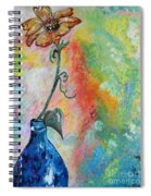 One Solitary Flower Spiral Notebook