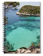 One Step To Paradise - Cala Mitjana Beach In Menorca Is A Turquoise A Cristaline Water Paradise Spiral Notebook