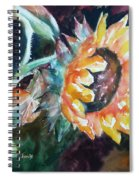 One Sunflower Spiral Notebook