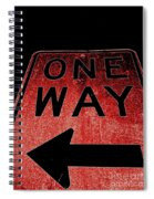 One Way Spiral Notebook