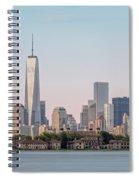 One World Trade Center And Ellis Island 2 Spiral Notebook