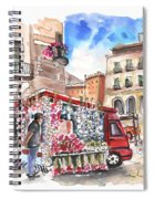 Onion And Garlic Street Seller In Siracusa Spiral Notebook