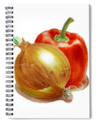 Onion And Red Pepper Spiral Notebook