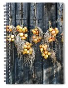 Onions And Barnboard Spiral Notebook