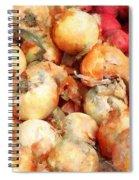 Onions Closeup Spiral Notebook