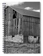Ontario Barn Monochrome Spiral Notebook