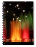Open Air Theatre Rainbow Fountain Spiral Notebook