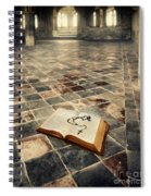 Open Book And Roasary On The Floor Spiral Notebook