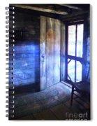 Open Cabin Door With Orbs Spiral Notebook