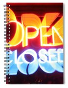 Open Closed Spiral Notebook