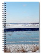 Open Creek - Ice Fishing - Winter Spiral Notebook