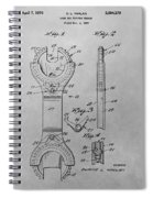 Open End Ratchet Wrench Spiral Notebook