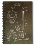 Open End Ratchet Wrench Patent Spiral Notebook