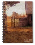 Open Gate By Cottage Spiral Notebook