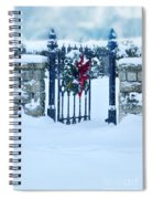 Open Gate In Snow With Wreath Spiral Notebook