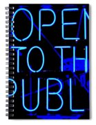 Open To The Public Spiral Notebook