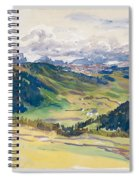 Open Valley. Dolomites Spiral Notebook