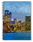 Opera House And Buildings Lit Spiral Notebook