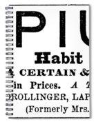 Opium Habit Cure, 1877 Spiral Notebook