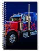 Optimus Prime Blue Spiral Notebook