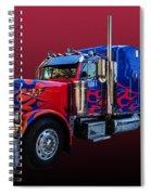 Optimus Prime Red Spiral Notebook