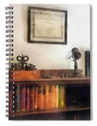 Optometrist - Eye Doctor's Office With Diploma Spiral Notebook
