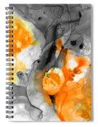 Orange Abstract Art - Iced Tangerine - By Sharon Cummings Spiral Notebook