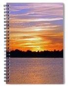 Orange And Blue Sunset Spiral Notebook