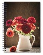 Orange And Red Ranunculus Flowers Spiral Notebook
