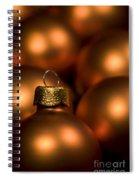 Orange Baubles Spiral Notebook