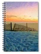Orange Beach Sunset - The Waning Of The Day Spiral Notebook