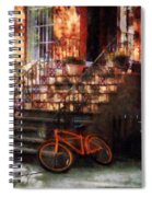 Orange Bicycle By Brownstone Spiral Notebook