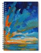 Orange Blue Sunset Landscape Spiral Notebook