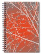 Orange Branches Spiral Notebook