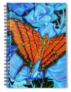 Orange Butterfly Spiral Notebook