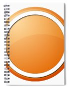 Orange Button Spiral Notebook