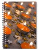 Orange Candles Spiral Notebook