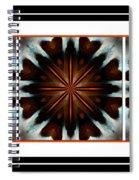 Orange Chocolate Trio - Kaleidoscope - Triptych Spiral Notebook