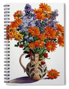 Orange Chrysanthemums Spiral Notebook