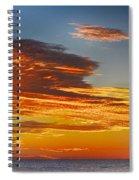 Orange Clouds Spiral Notebook