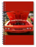 Orange Color Chevrolet Car Spiral Notebook