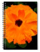 Orange Country Flowers - Impressionist Series Spiral Notebook
