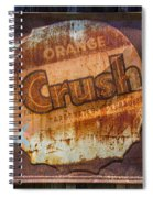 Orange Crush Sign Spiral Notebook