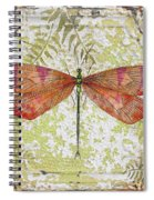 Orange Dragonfly On Vintage Tin Spiral Notebook