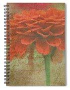 Orange Floral Fantasy Spiral Notebook